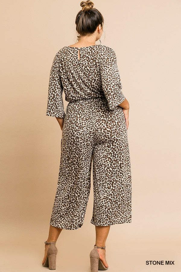 Animal Print Chic and Comfy Jumpsuit