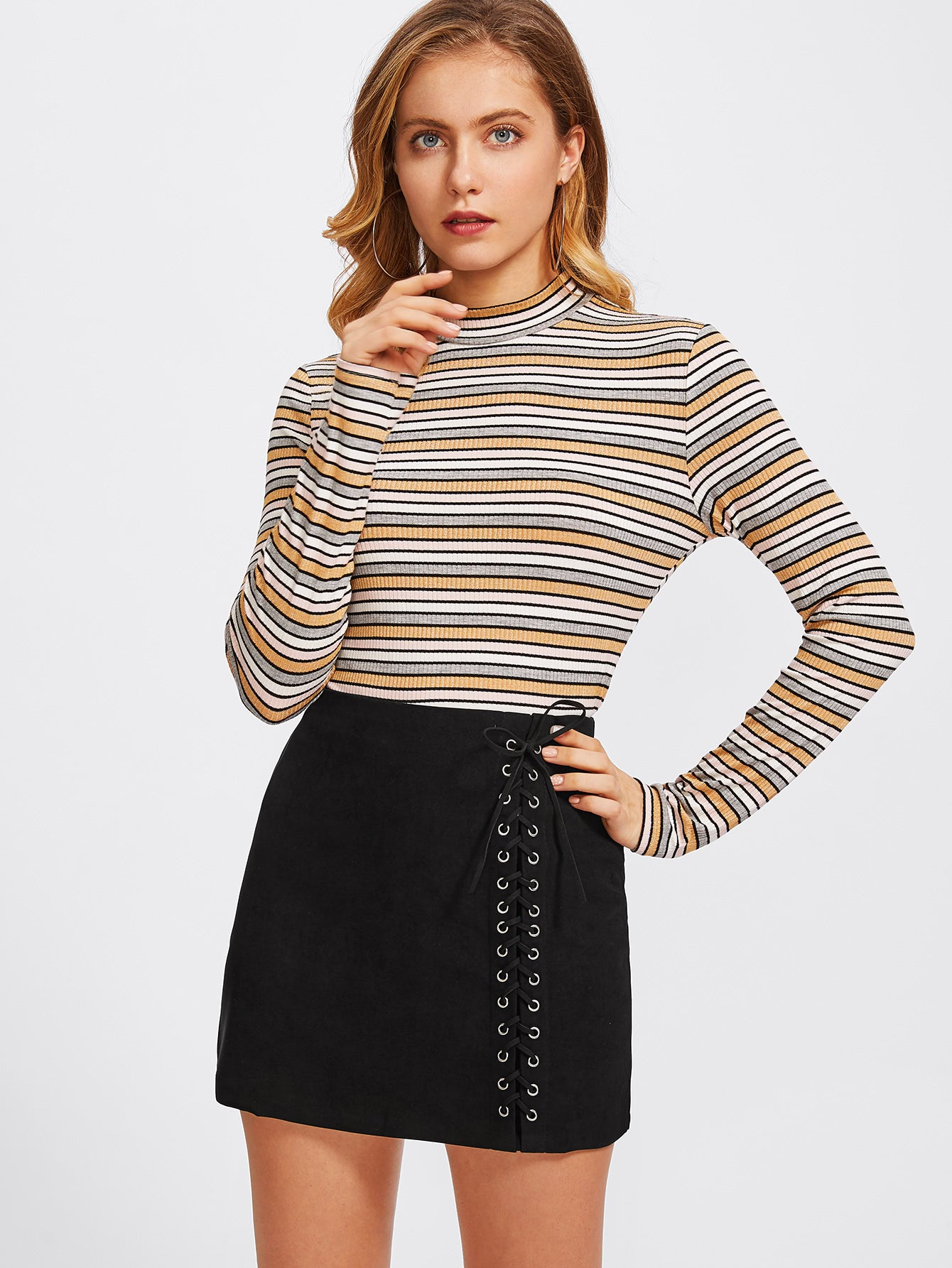 Juvenal Lace-up Skirt
