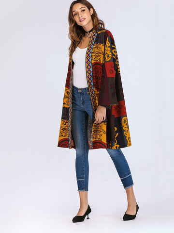 Multi-Colored Tribal Coat