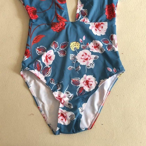 Hot Floral One-piece Swimsuit