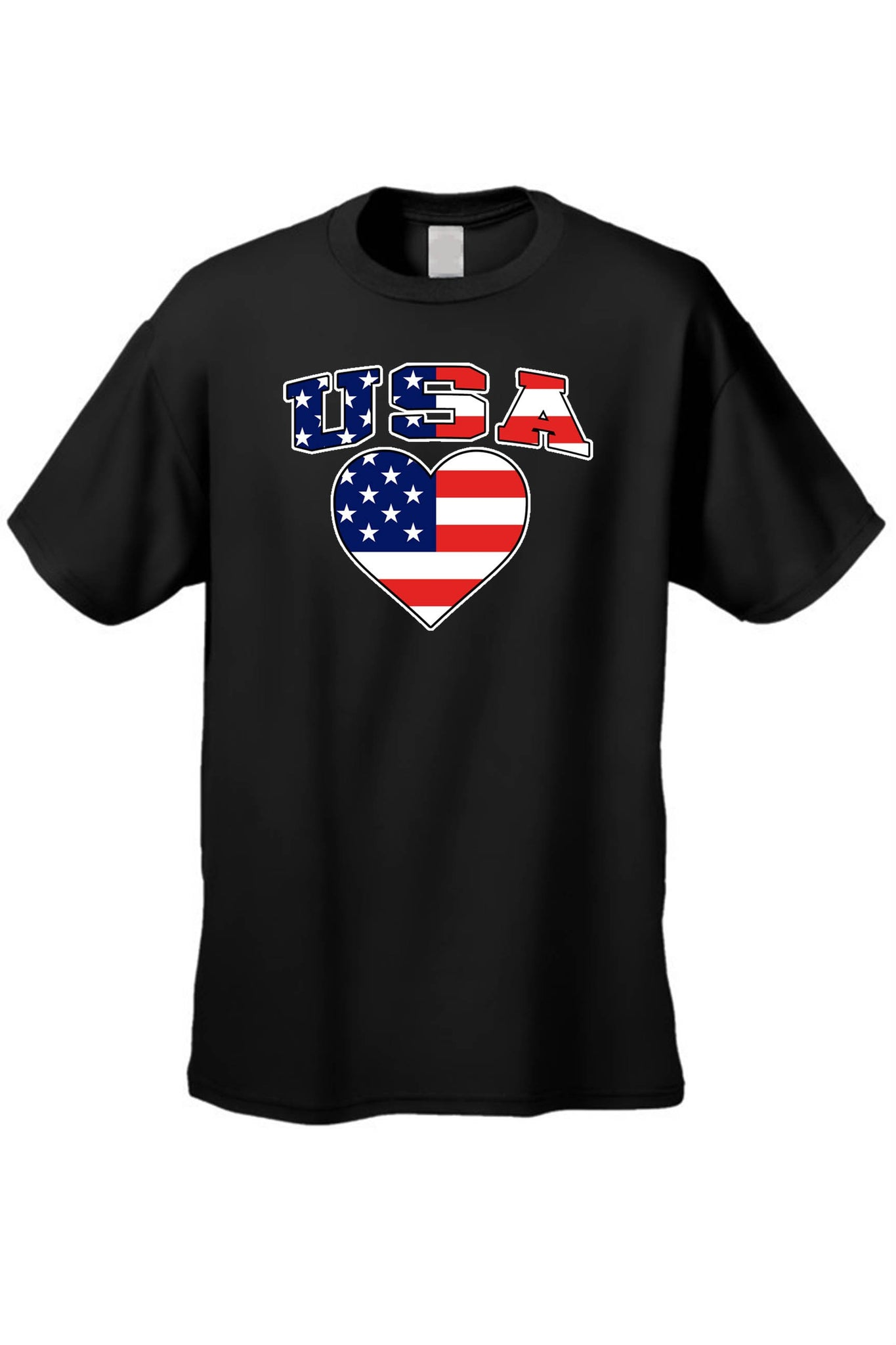 Heart USA Flag Tee