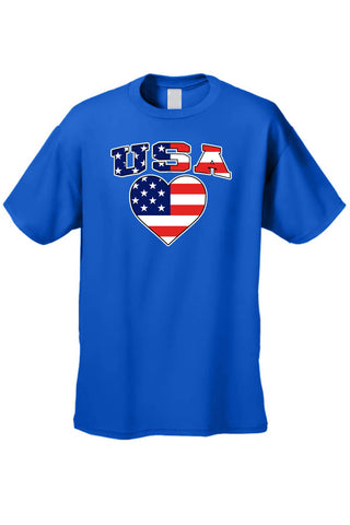 Lulci Heart USA Flag Tee