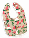 Elephant Ollie Triple Layered Bib - 6 Designs