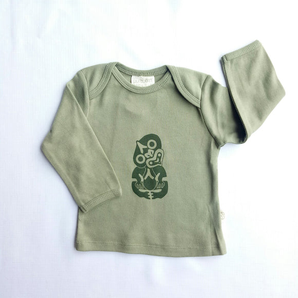 Tiki Print Long Sleeved Organic Cotton Top - NZ Baby Box
