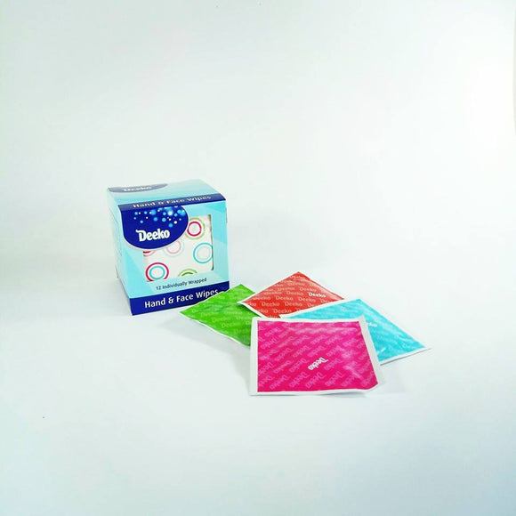 Deeko Face & Hand Wipes 12 pack - NZ Baby Box