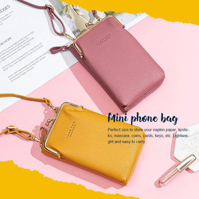 (50% OFF)Women Phone Bag Solid Crossbody Bag