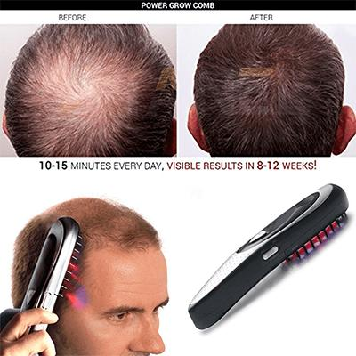 POWER GROW LASER MASSAGE HAIR COMB WITH BUNDLE OF 1PC TOPPIK HAIR FIBER PLUS 2PCS ANDREA HAIR GROWTH ESSENCE
