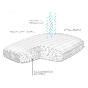 Sleep Plush + Gel Soft Pillow