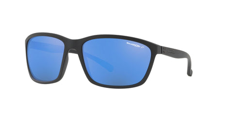 Lentes Arnette Hand Up Matte Black / Blue Mirror Polarized AN4249 01/22 63