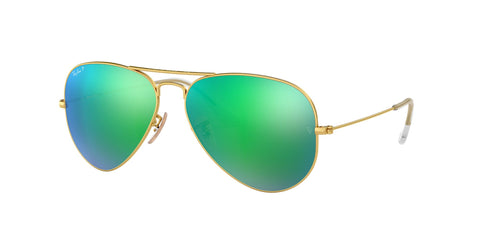 Lentes Ray-Ban RB 3025 112/P9 58 Aviator Gold / Green Mirror Polarized