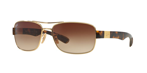 Lentes Ray-Ban RB 3522 001/13 61 Gold Tortoise / Brown Gradient