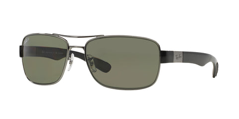Lentes Ray-Ban RB 3522 004/9A 64 Gunmetal / Green Classic G-15 Polarized