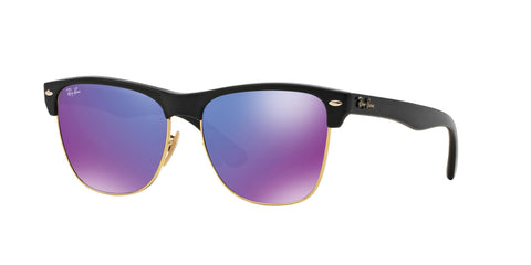 Lentes Ray-Ban RB 4175 877/1M Clubmaster Oversized Black / Violet Flash