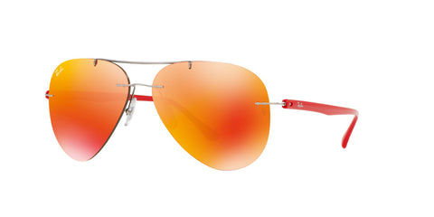 Lentes Ray-Ban RB 8058 159/6Q 59 Titanio Grey Red / Orange Mirror