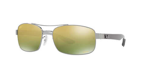 Lentes Ray-Ban RB 8318 004/6O 62 Gunmetal / Green Mirror Polarized Chromance
