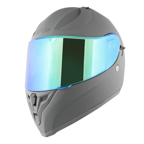 Casco Integral Joe Rocket Rkt 14 Ion Gris Mate / Azul Iridium