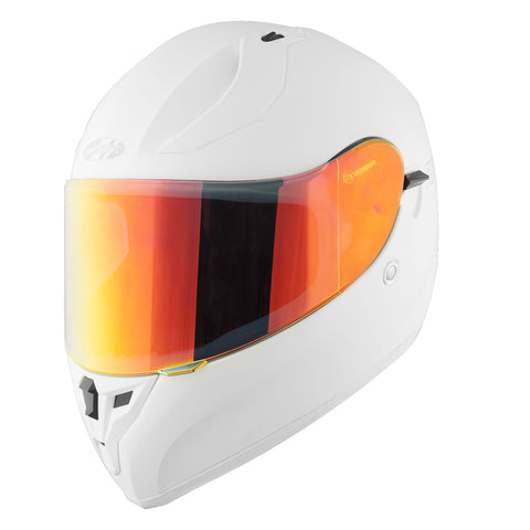 Casco Integral Joe Rocket Rkt 14 Ion Blanco Mate / Rojo Iridium