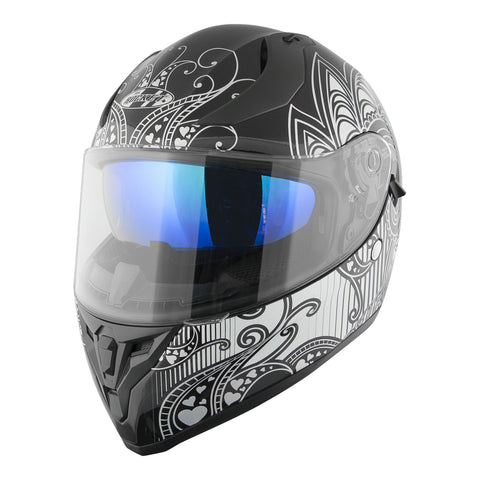 Casco Integral Joe Rocket Rkt 14 Heartbreaker Negro De Mujer