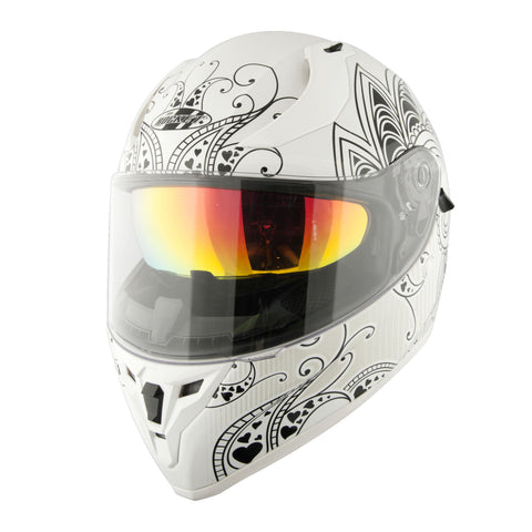 Casco Integral Joe Rocket Rkt 14 Heartbreaker Blanco Mujer