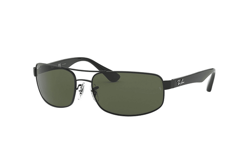 Lentes Ray-Ban RB 3445 002/58 61 Black / Green Classic G-15 Polarized