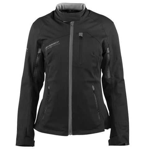 Chamarra Joe Rocket Moto Impermeable Pacifica Negra - Mujer