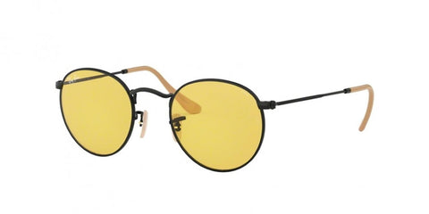 Ray-Ban RB 3447 90664A 50 Round Classic Black / Yellow Photochromic Evolve