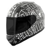 Casco Integral Mujer SS700 Speed & Strength Hell´s Belles Black / Silver