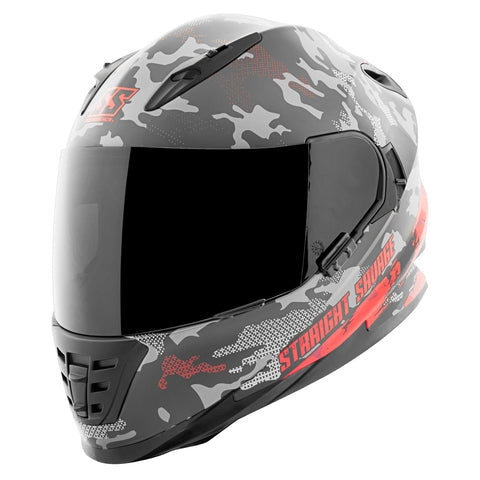 Casco Integral Ss1600 Speed & Strength Straight Savage Red