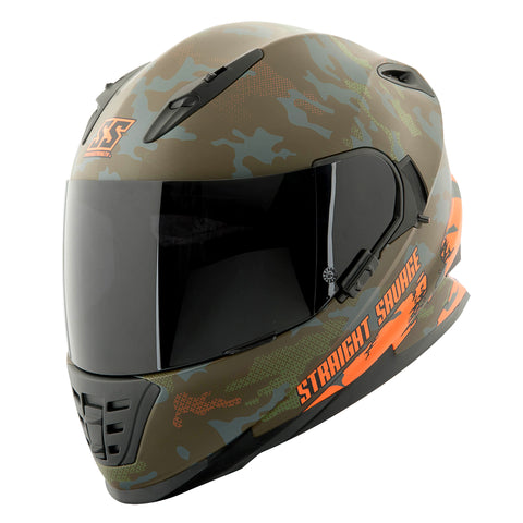 Casco Integral Ss1600 Speed & Strength Straight Savage Green