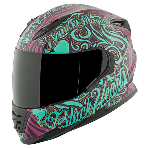 Casco Integral Mujer SS1310 Speed & Strength Black Heart Pur