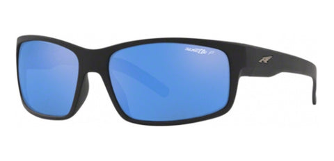Arnette Fastball Matte Black / Blue Mirror Polarized AN4202 01/22