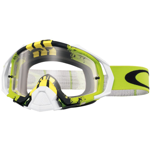 Goggles Oakley Mayhem Pro Pinned Race Green Yellow - Clear