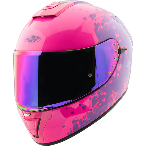 Casco Integral Joe Rocket Rkt 15 Heartbreaker PNK /PUR Mujer