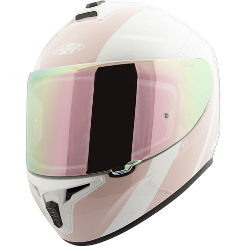 Casco Integral Joe Rocket RKT 8 Velocity Blanco / Rosa Iridium - Mujer