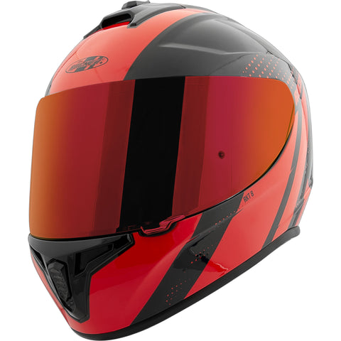Casco Integral Joe Rocket RKT 8 Velocity Negro / Rojo Iridium