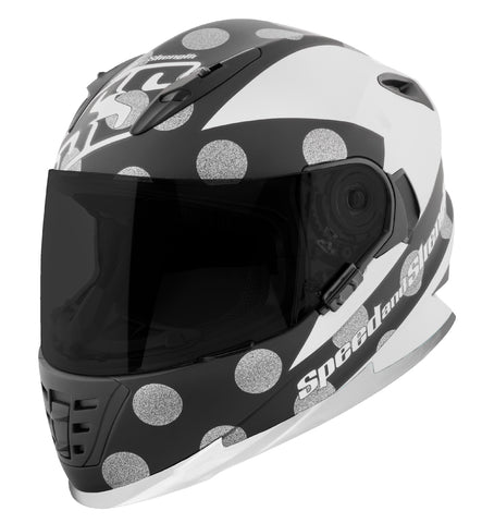 Casco Integral SS1310 Speed & Strength Spell Bound White/Blk