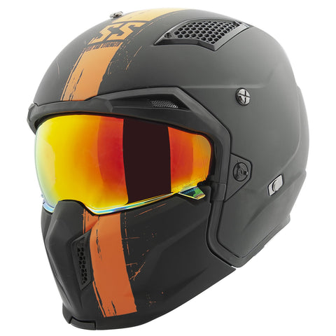 Casco Speed & Strength SS2400 tan 3 N 1 Abierto 3/4 Integral