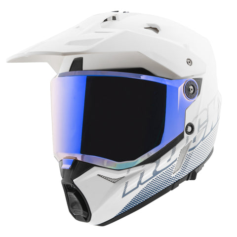 Casco Doble Propósito Joe Rocket RKT 26 Solar Flare Blanco Iridium