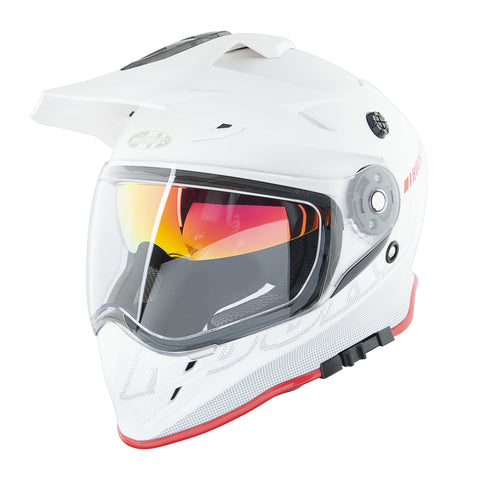 Casco Doble Propósito Joe Rocket Rkt 25 Solar Flare Blanco / Rojo