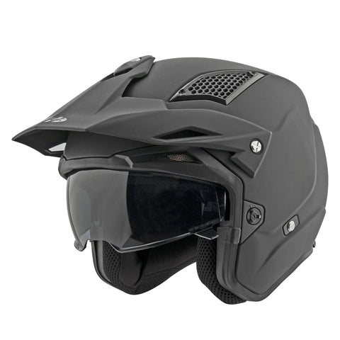 Casco Joe Rocket RKT 6 Negro Mate Abierto 3/4
