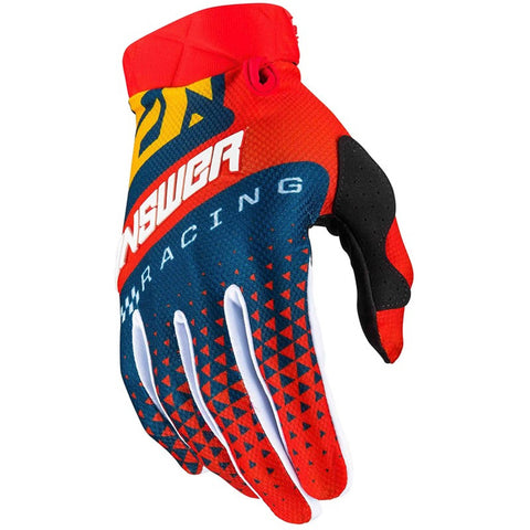 Guantes Answer Ar3 Korza Moto Cross Red / Yellow