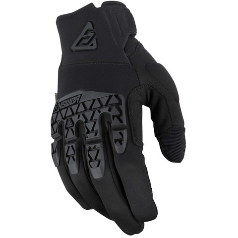 Guantes Answer Ar5 OPS Moto Cross Negro Touchscreen