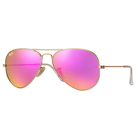 Lentes Ray-Ban RB 3025 112/4T 58 Aviator Gold / Pink Mirror