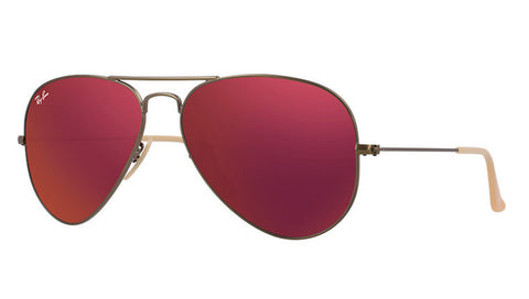 Ray Ban Aviator 3025 167/2K Brushed Bronze/ Red Mirror Flash
