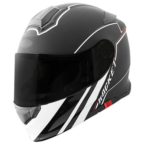 Casco Abatible Modular Joe Rocket RKT 18 Series Alter Ego Negro Mate / Blanco