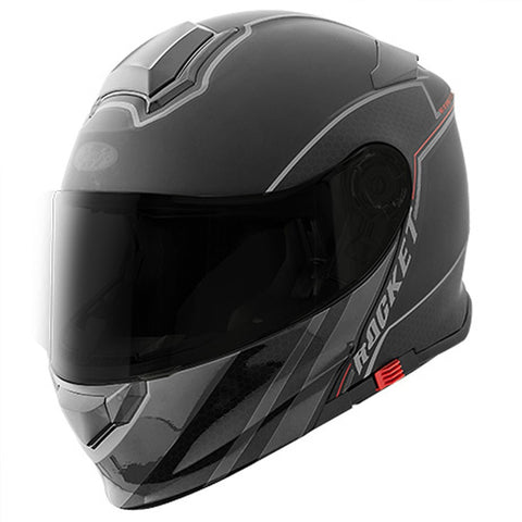 Casco Abatible Modular Joe Rocket RKT 18 Series Alter Ego Negro Mate / Gris