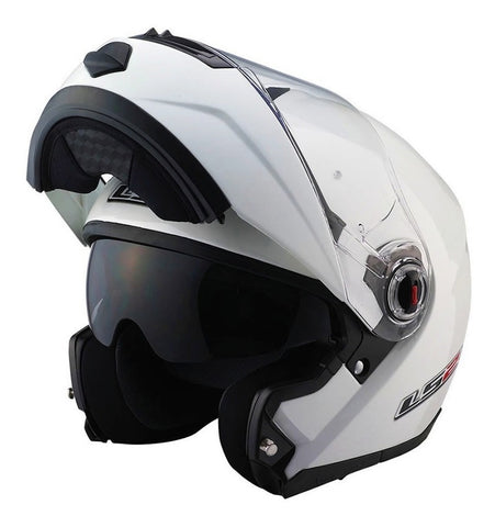 Casco Abatible Modular LS2 FF386 Blanco