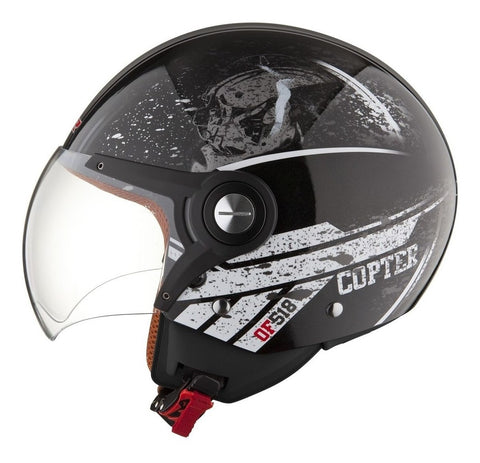Casco Abierto LS2 OF518 Copter Negro / Gris