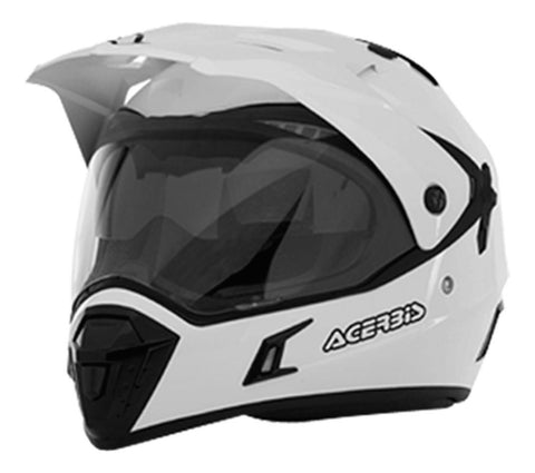 Casco Acerbis Active Híbrido Doble Propósito Doble Mica Blanco