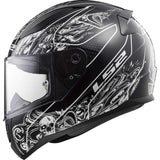 Casco Integral LS2 FF353 Rapid Crypt Negro Mate / Blanco